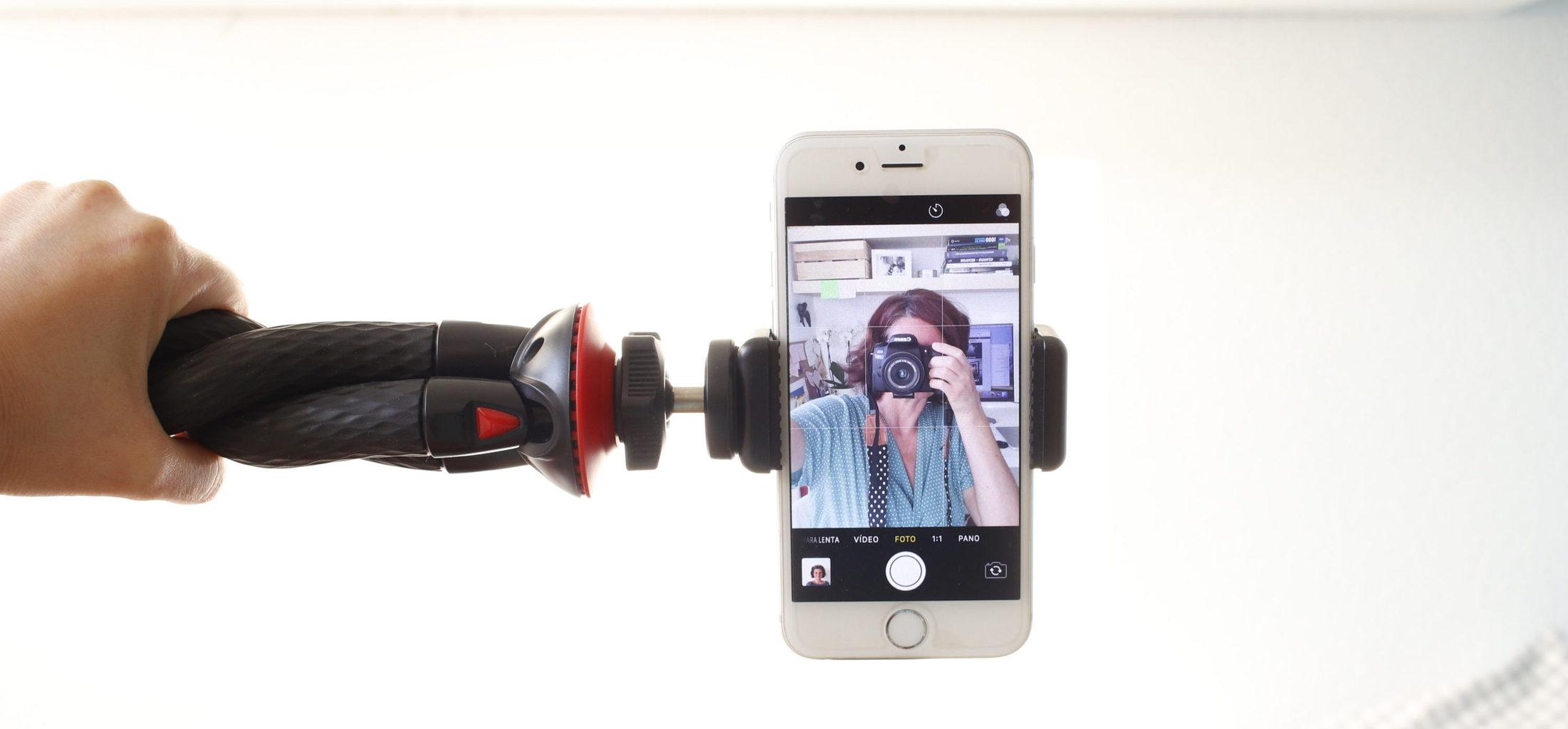 Fotopro trípode flexible con móvil