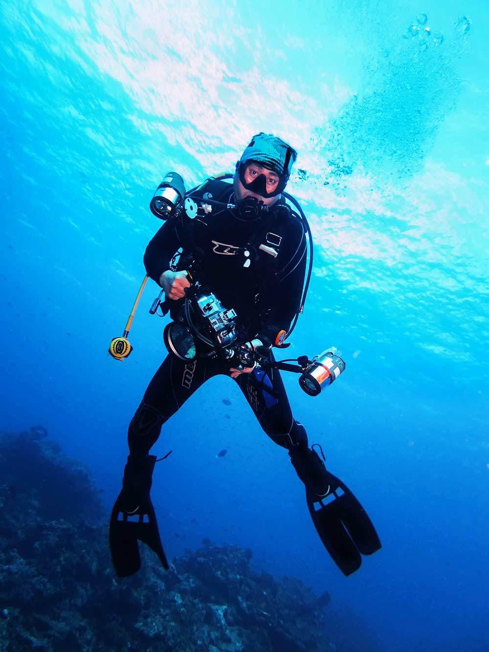 Fotografía submarina con equipo autónomo