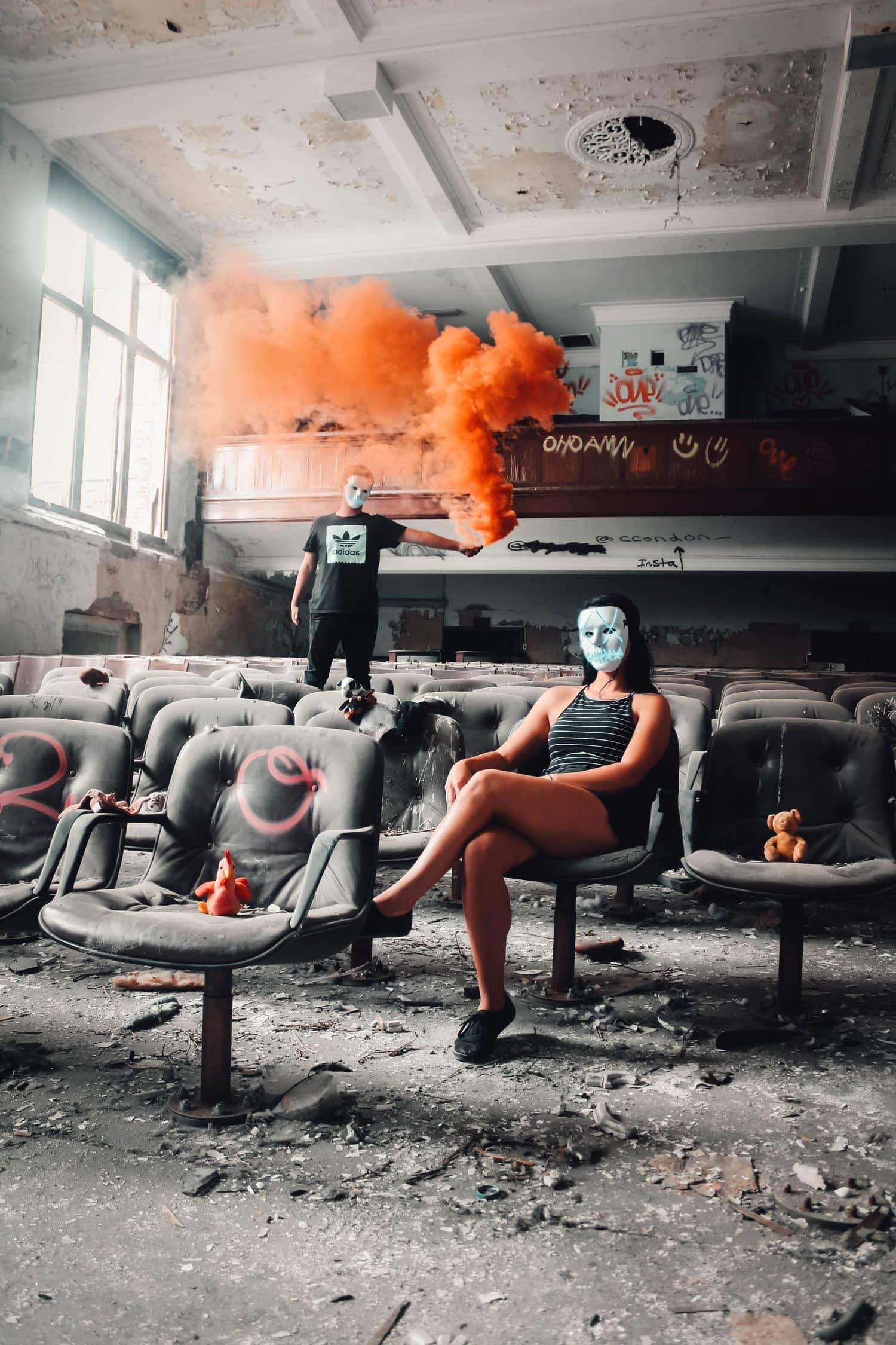 fotografía en un cine abandonado
