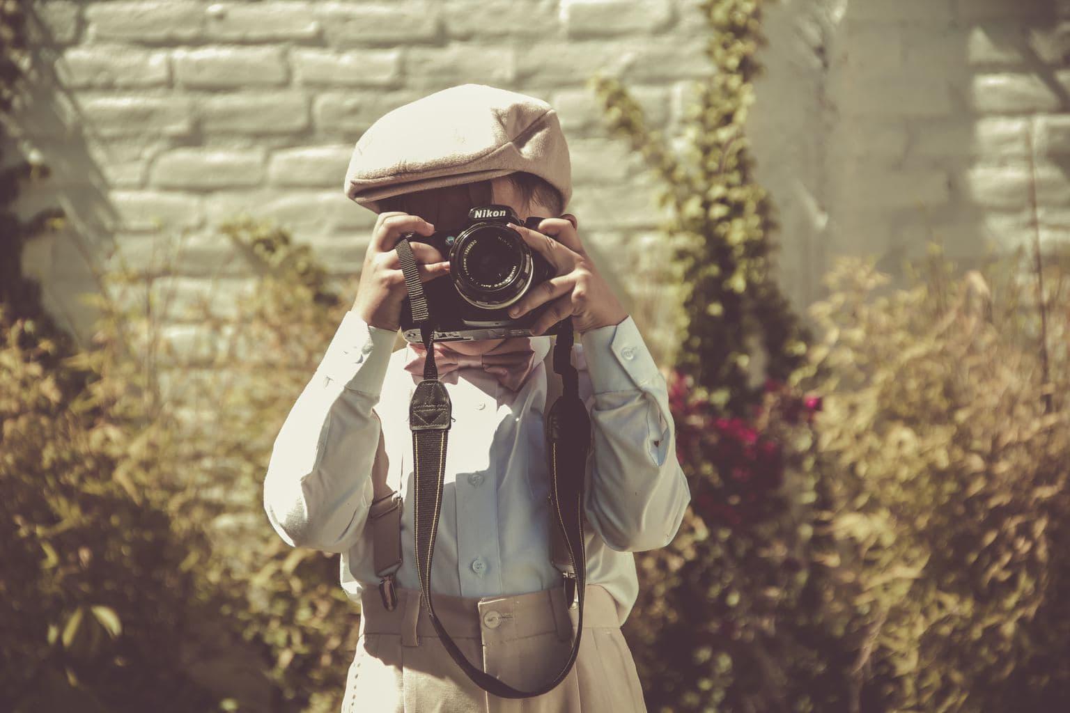 retrato de un niño con una Nikon