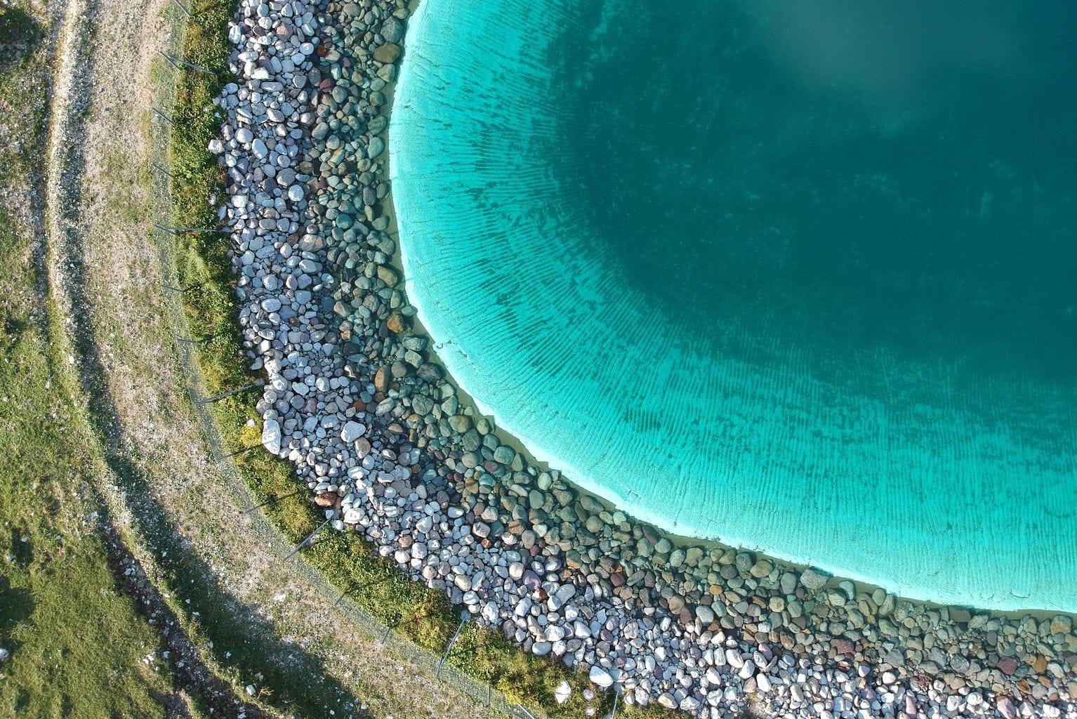 fotografía aérea con un dron playa