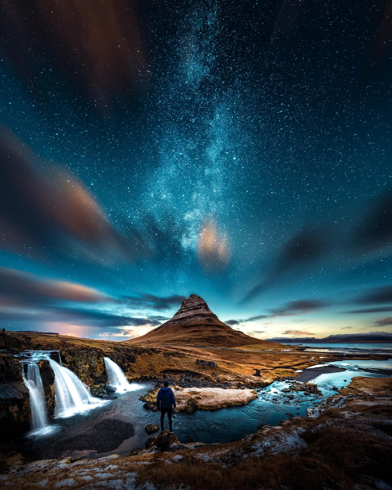 Fotografía nocturna con elemento humano