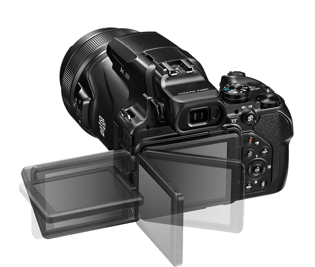 Nikon COOLPIX P1000 pantalla abatible