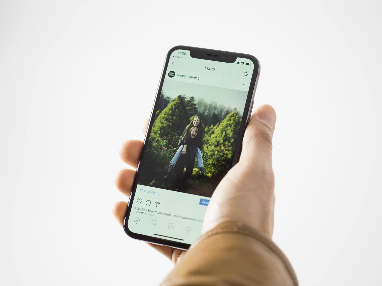 visualizando Instagram en el iPhone