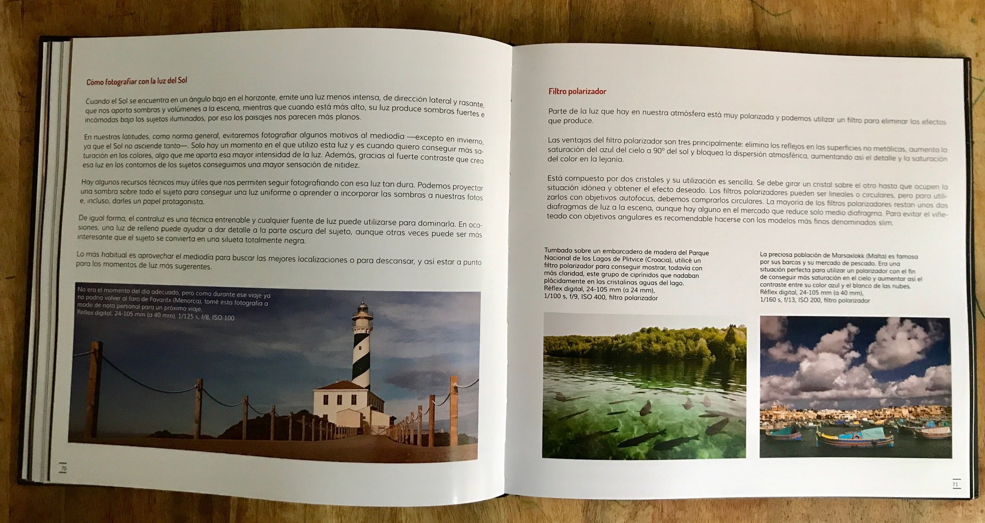 Filtro Libro Fotografiar Con Mal Tiempo