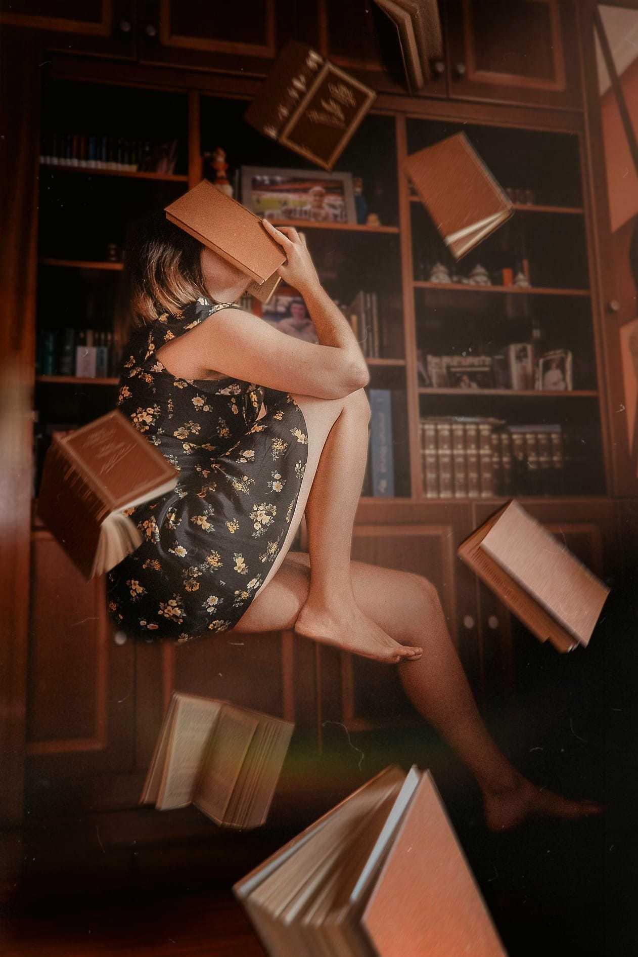 fotografía creativa entre libros