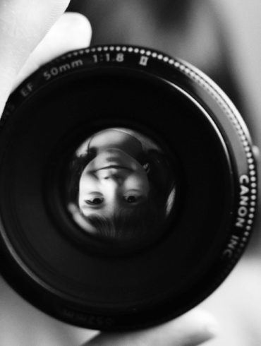 retrato a través de objetivo