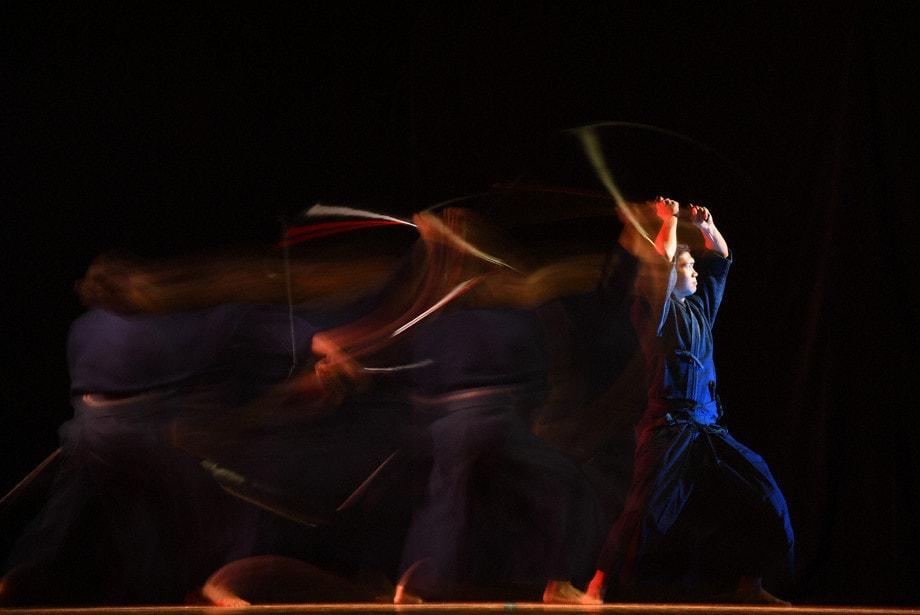 fotografía con flash artes marciales