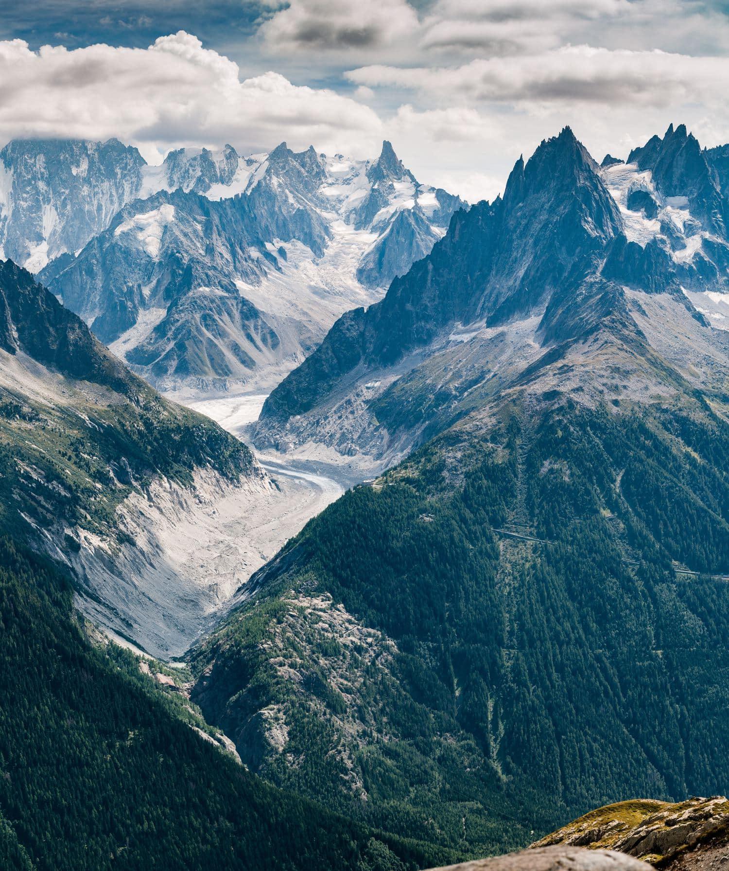 fotografía paisajes montañas con nieve
