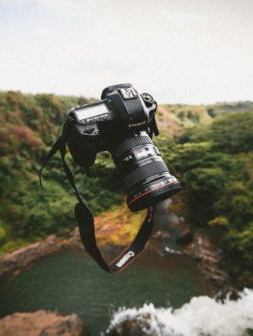 cámara volando