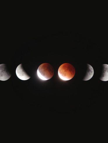Secuencia de un eclipse de luna
