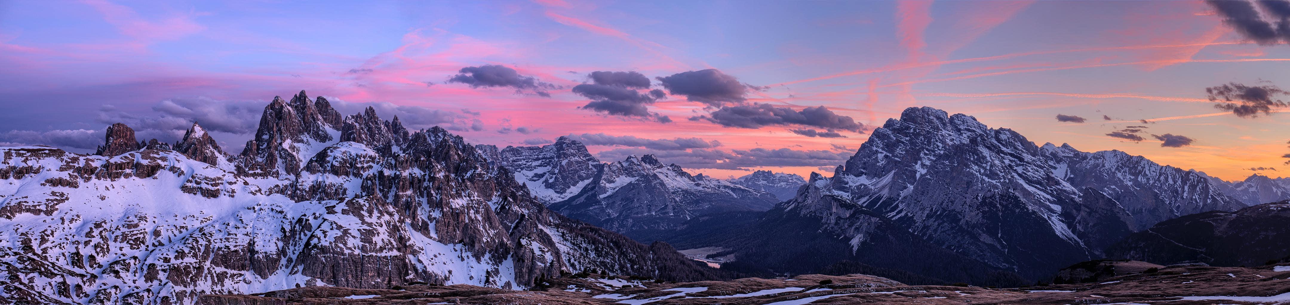 paisaje montañas panorámica