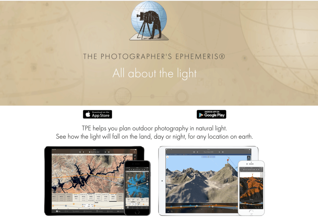 photographer ephemeris