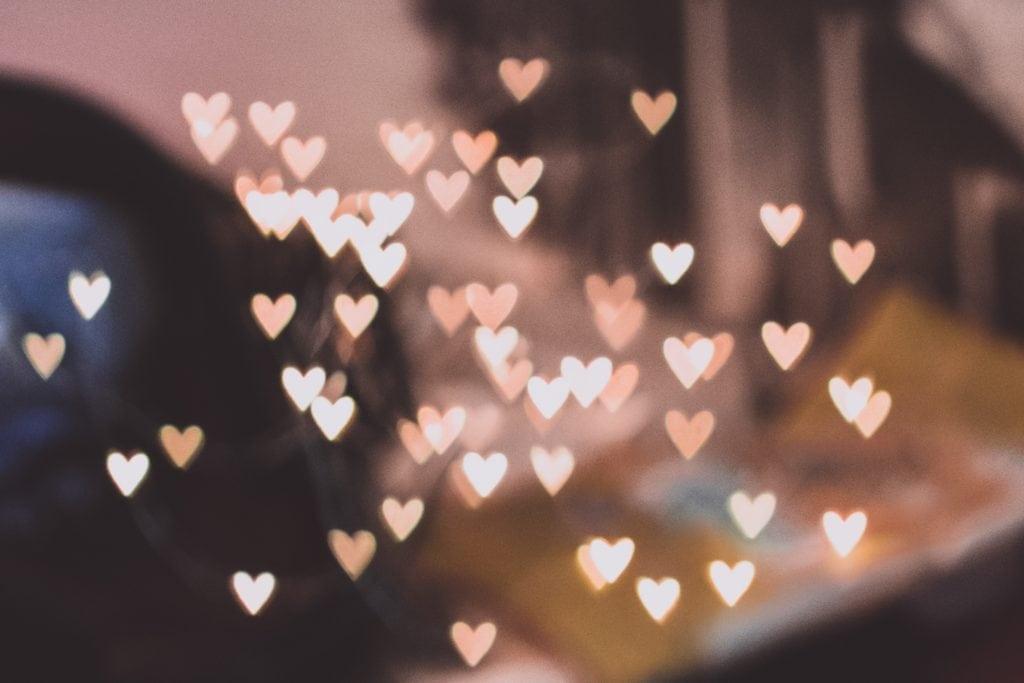 bokeh en forma de corazón