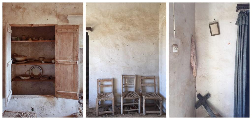 Tres fotos de una misma serie
