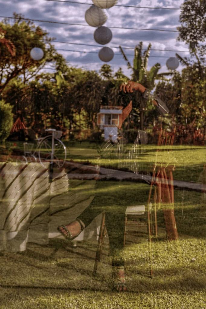 autorretrato con reflejo