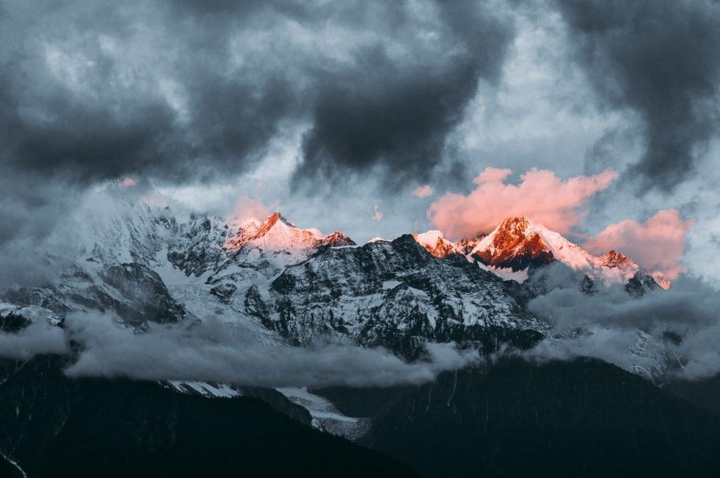 cumbre nevada paisaje