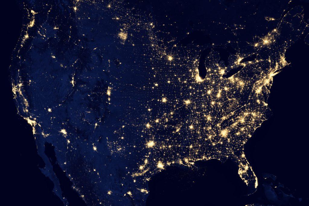 paisaje espacio noche