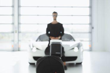 fotógrafo modelo flash