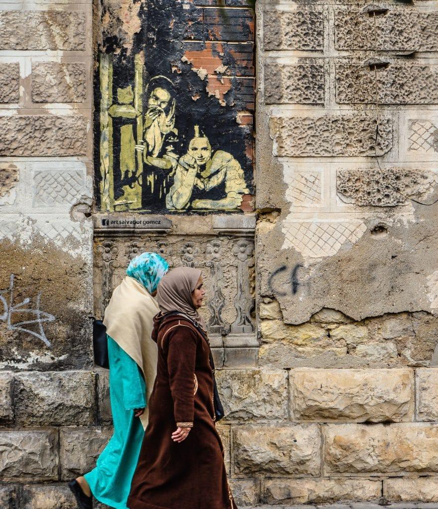 Mujeres musulmanas paseando