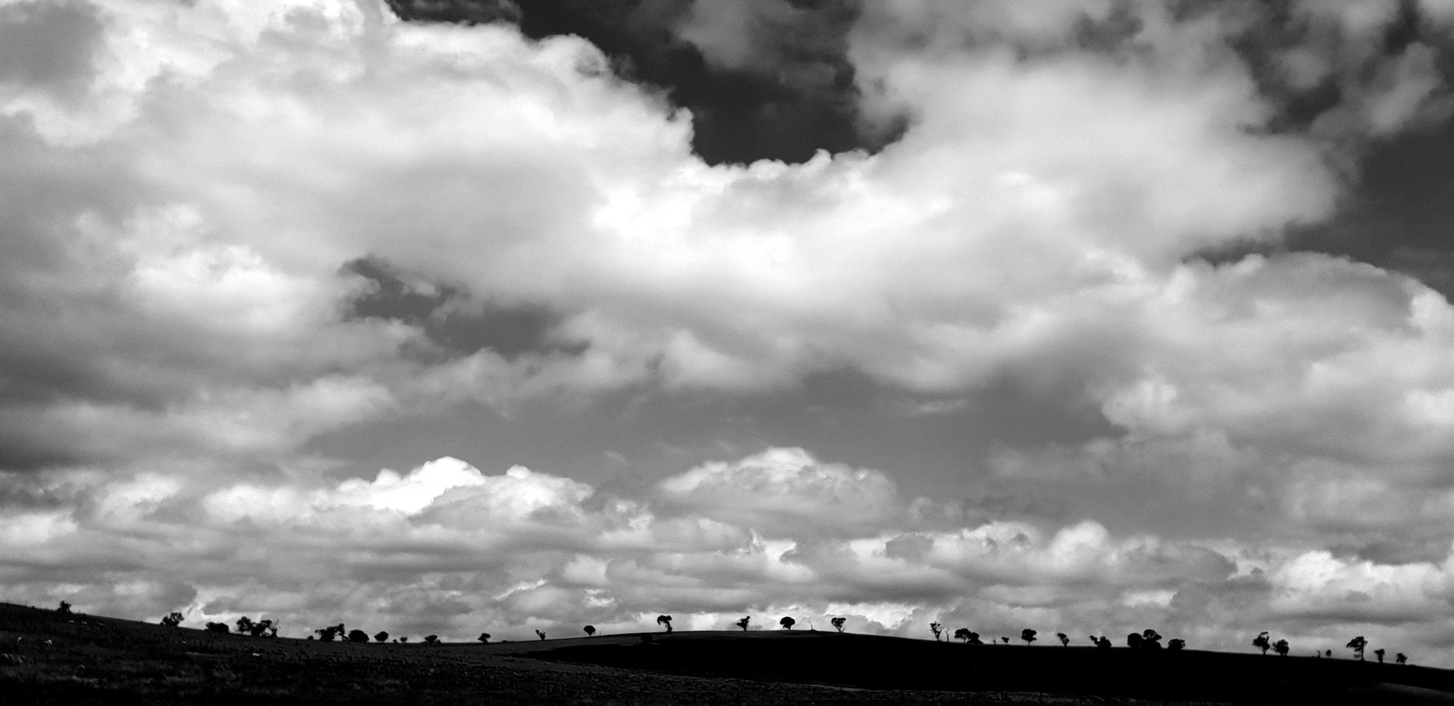 foto de nubes y cielo tomada con un smartphone samsung Galaxy S9