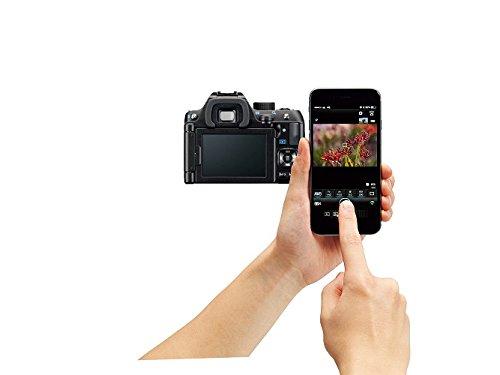 Smartphone conectado con Pentax k-70