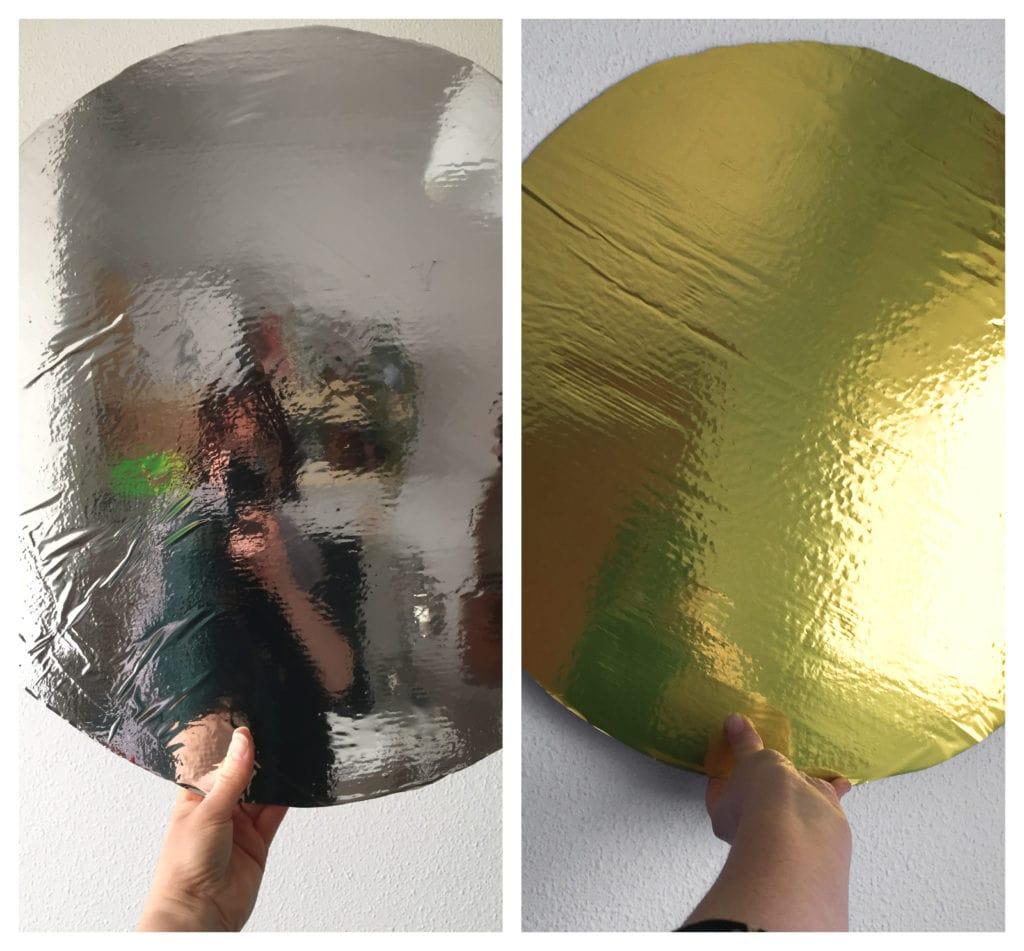Reflectores dorado y plata terminados