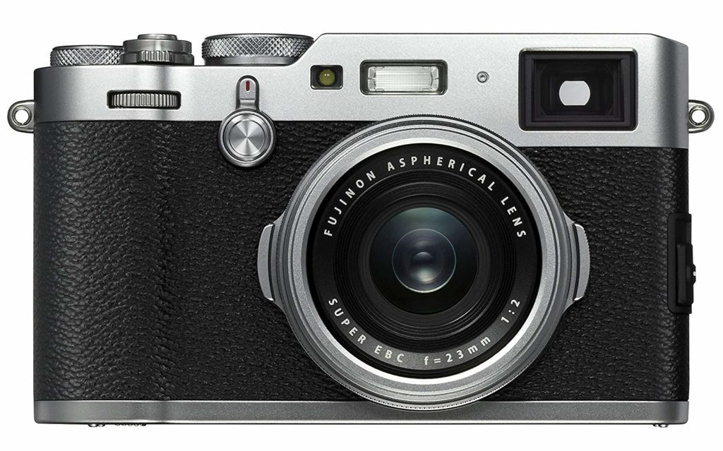 Vista frontal cámara Fujifilm x100F