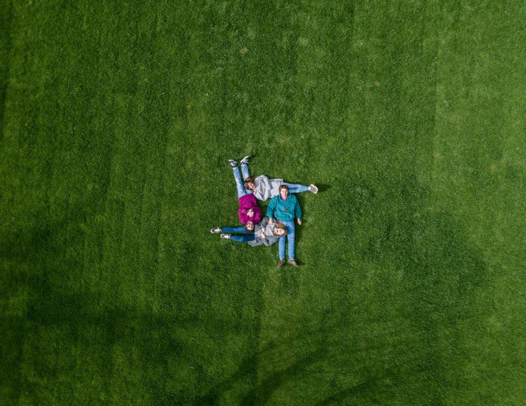 familia foto aérea