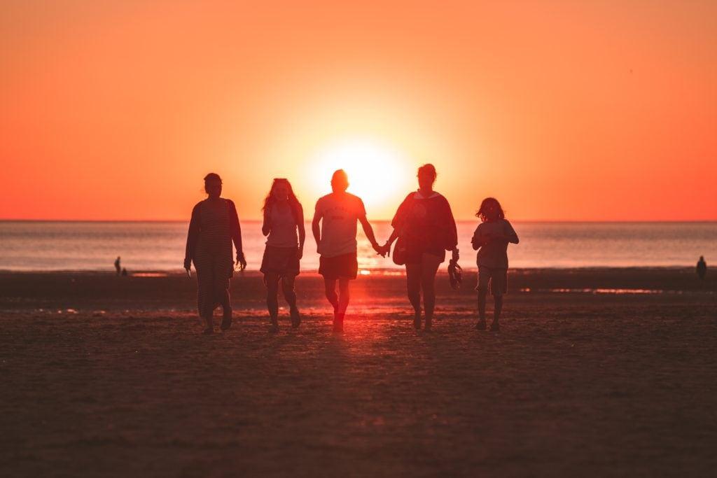 familia, siluetas