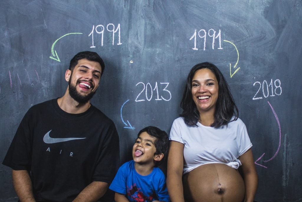 familia embarazo