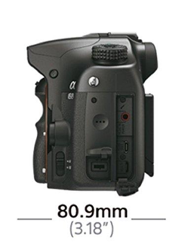 dimensiones lateral cámara sony alpha 68