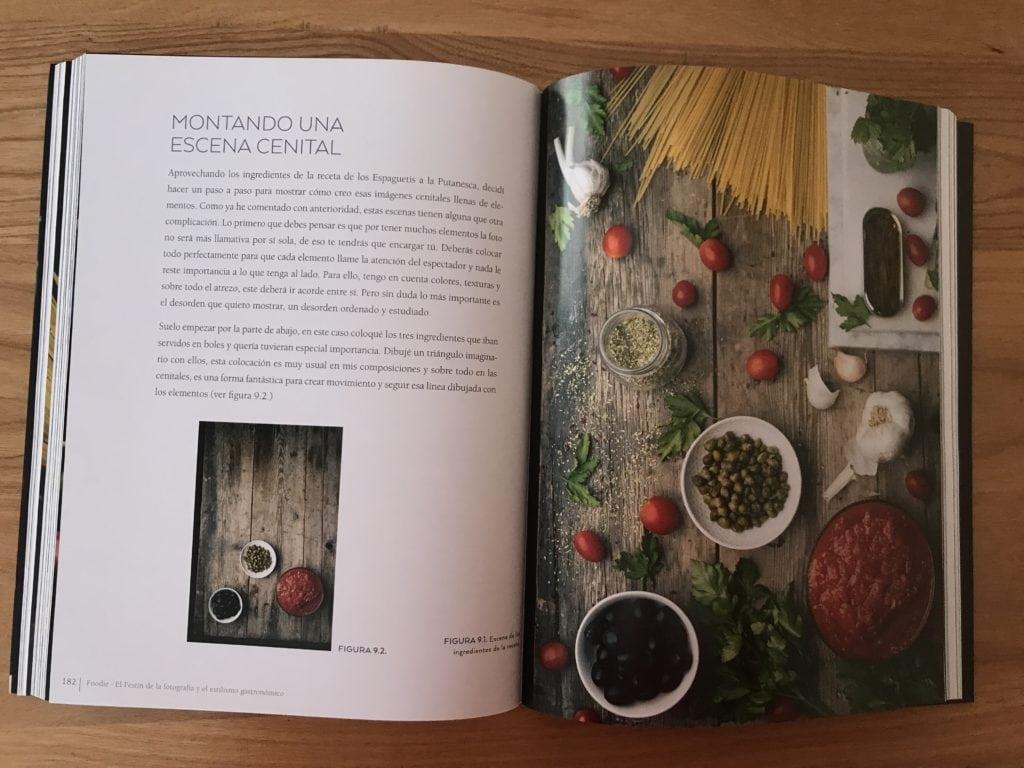 Ejemplo de página del libro foodie
