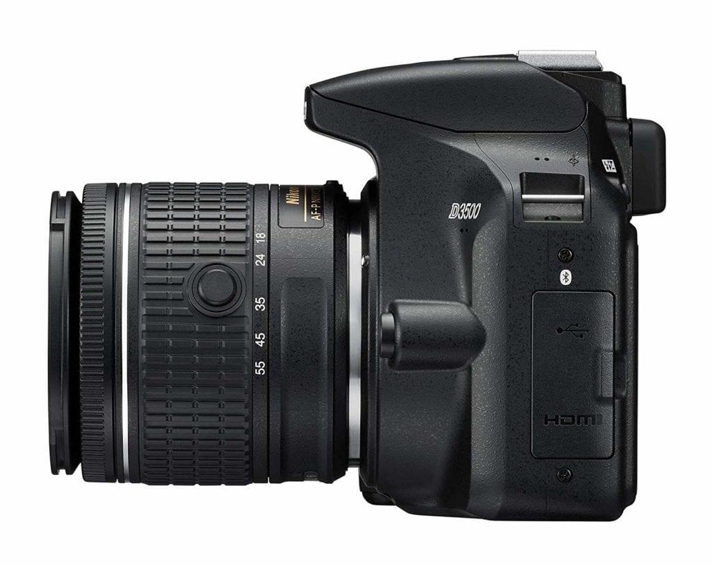 Vista lateral de la Nikon D3500