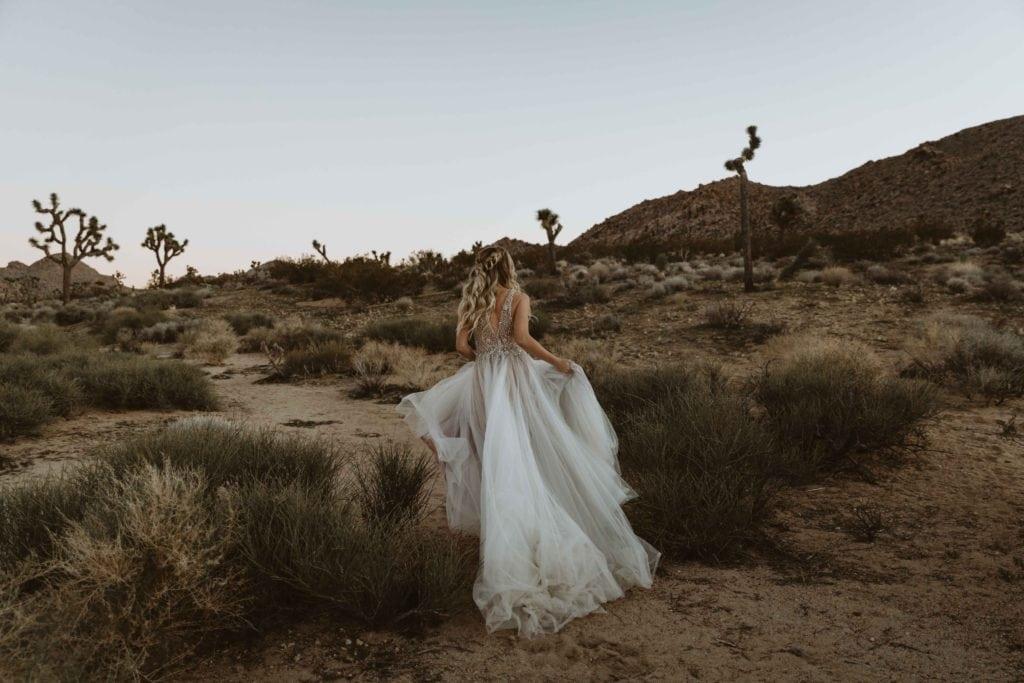 Foto novia desierto postboda