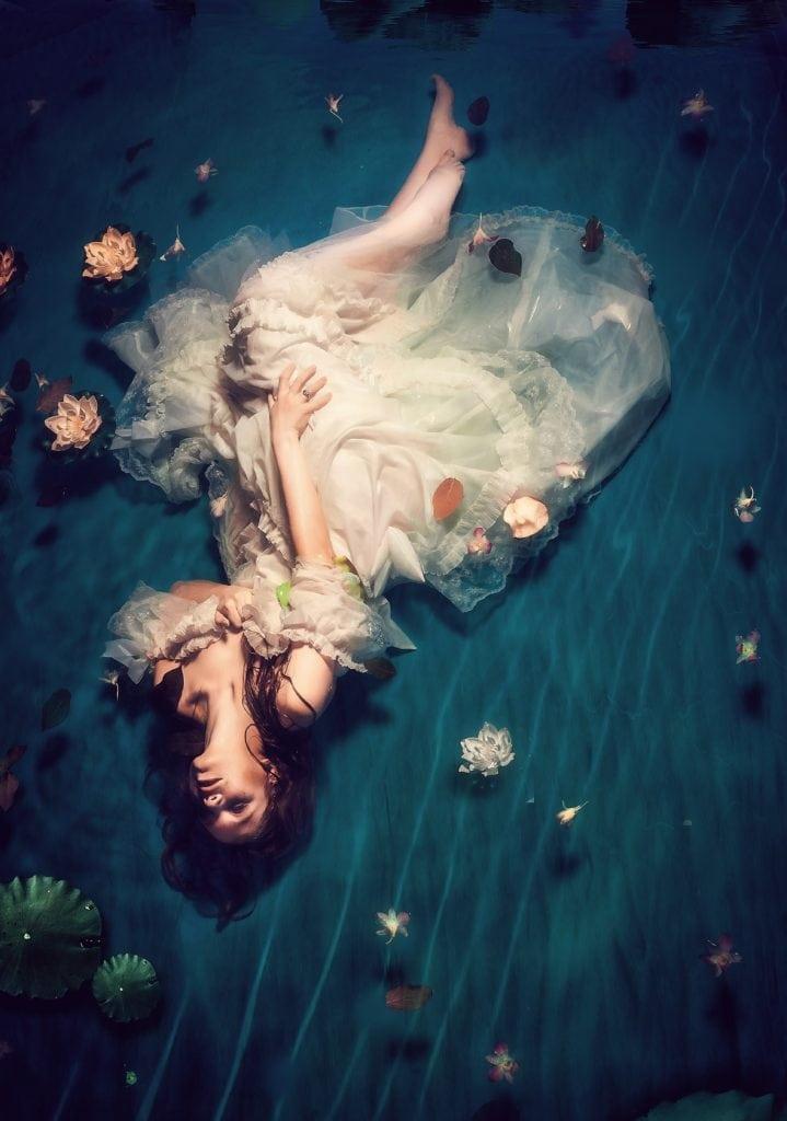 Retrato acuático artístico