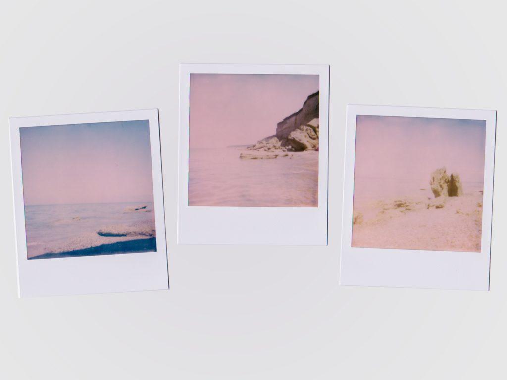 Tres fotografías tipo polaroid