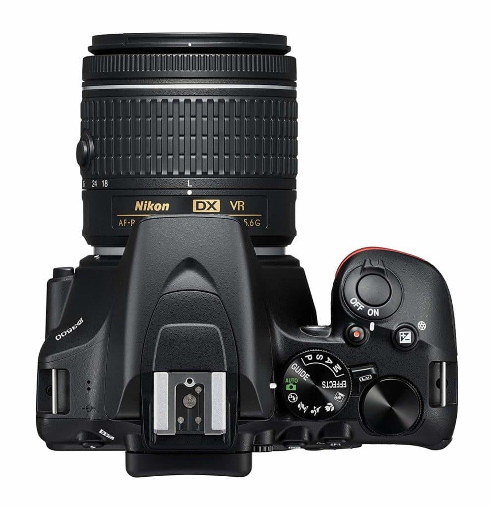 Vista desde arriba de la Nikon D3500