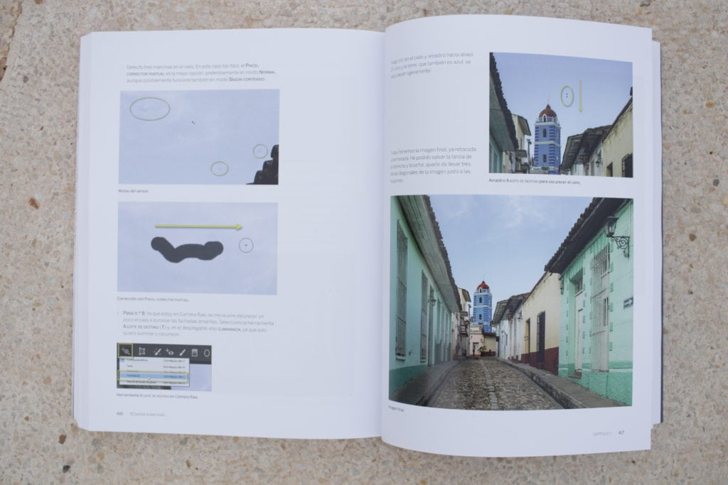 Interior del libro Los fundamentos de la fotografía de Jose María Mellado