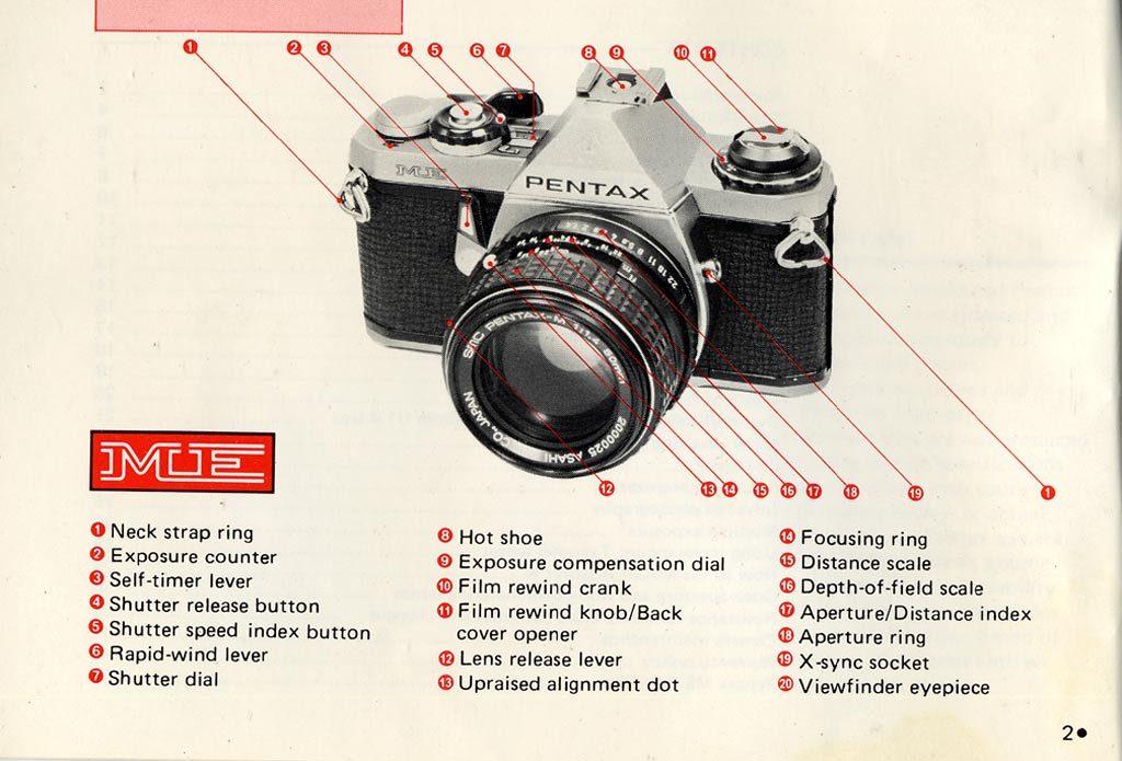 Manual de instrucciones cámara Pentax antigua