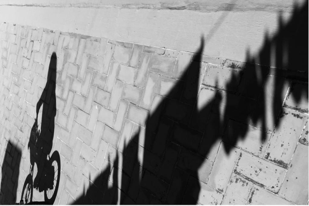 sombras móvil bici