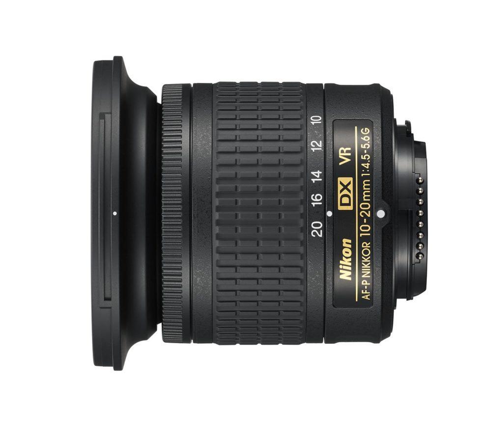 Vista lateral objetivo angular para Nikon 10-20mm