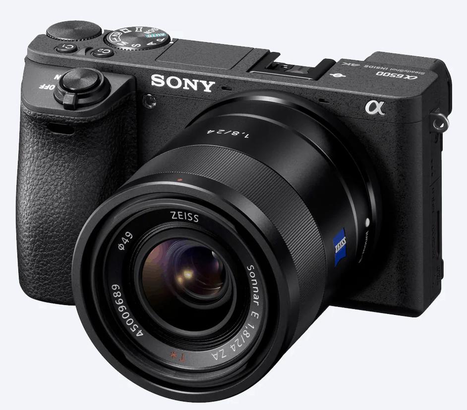 Sony A6500 de frente