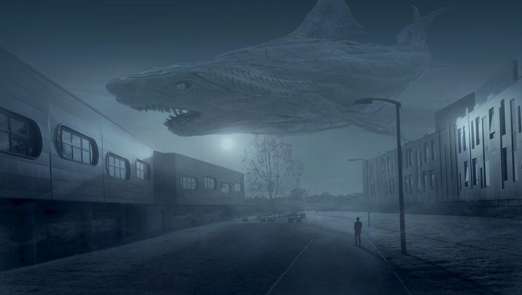 fotografía publicitaria tiburón