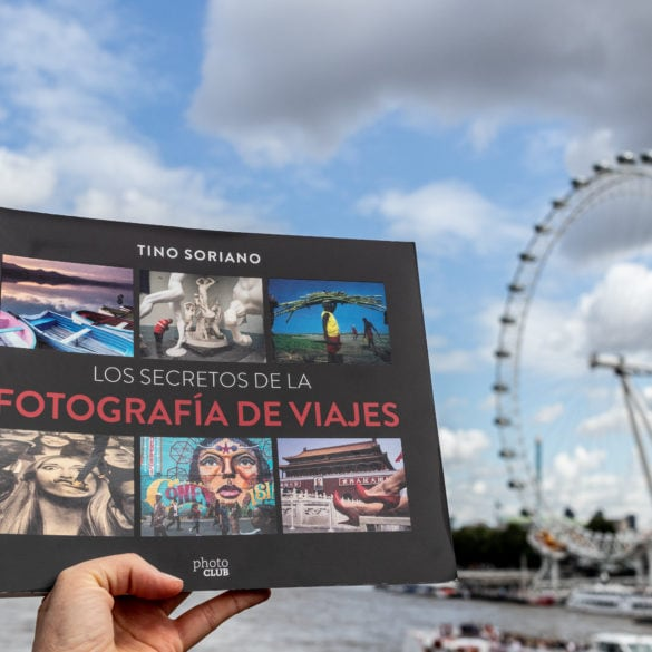 portada de libro de soriano con London Eye al fondo