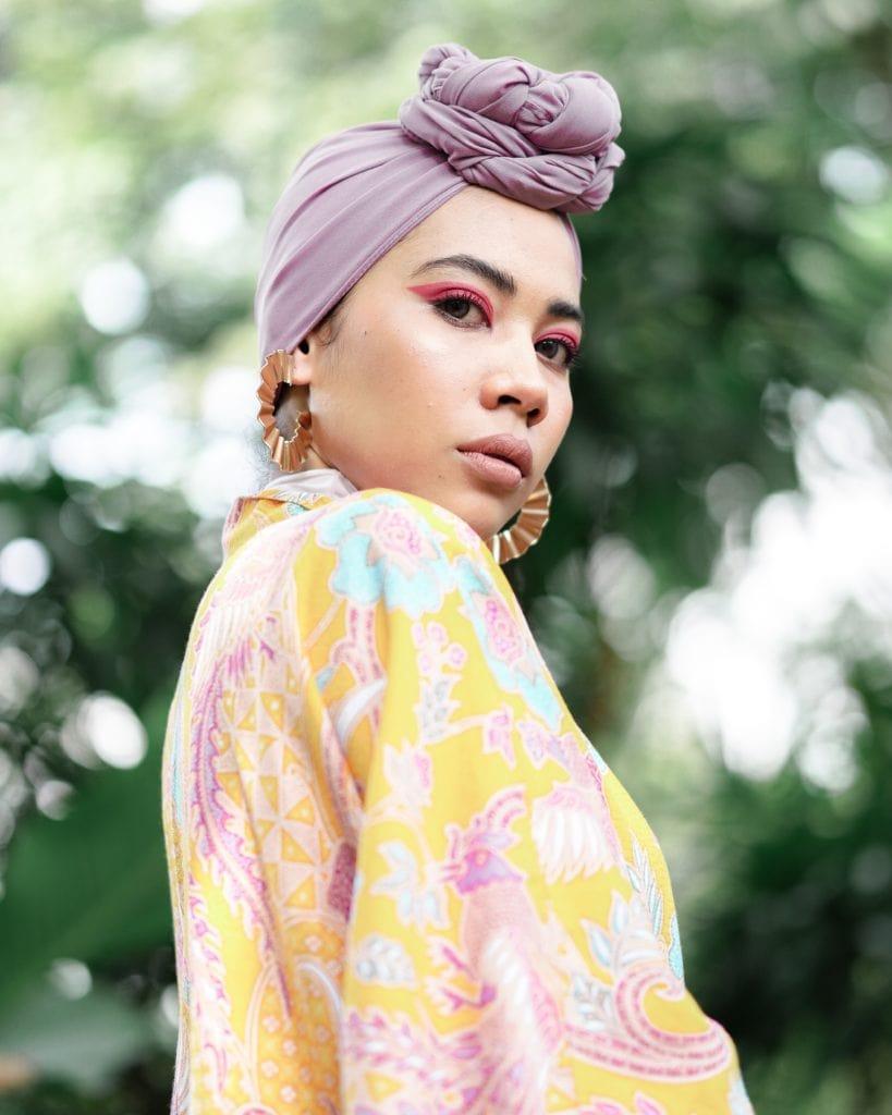 Retrato de mujer con turbante