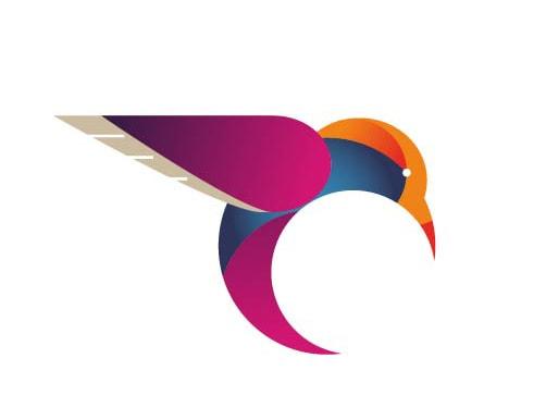 Logo relacionado con el tema natutaleza y colibrí