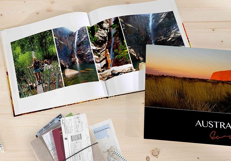 muestra de un álbum de fotos digital