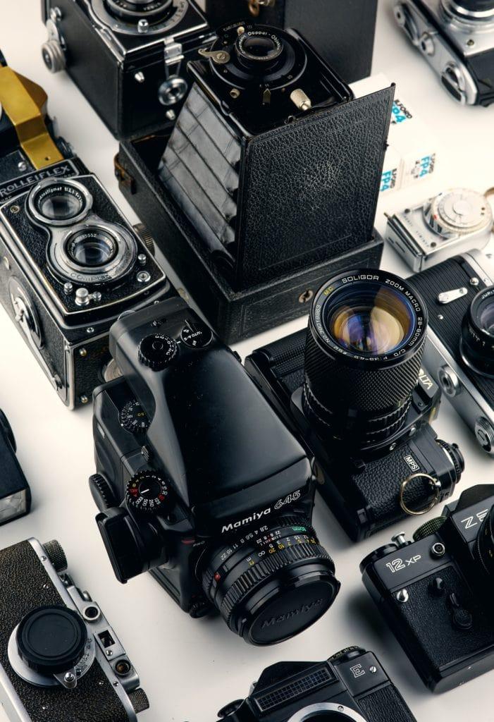 Colección de cámaras antiguas y vintage