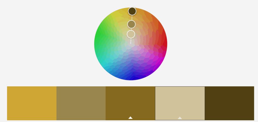 Gráfico de color monocromático